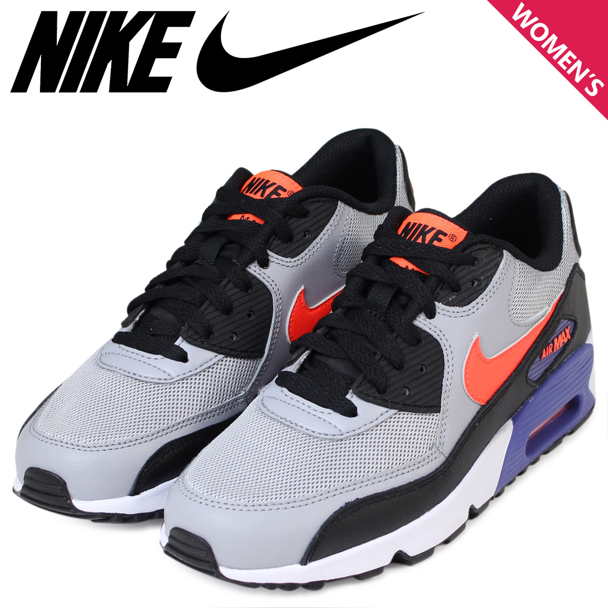 detailed look e2932 ecb1c NIKE Kie Ney AMAX Lady's sneakers AIR MAX 90 MESH Air Max 833,418-002 shoes  gray