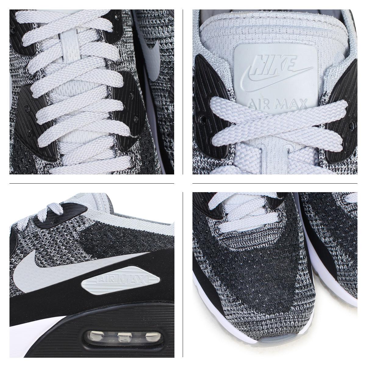 Nike Air Max 90 De Ultra Mercado 2,0 Flyknit Blanco Y Negro