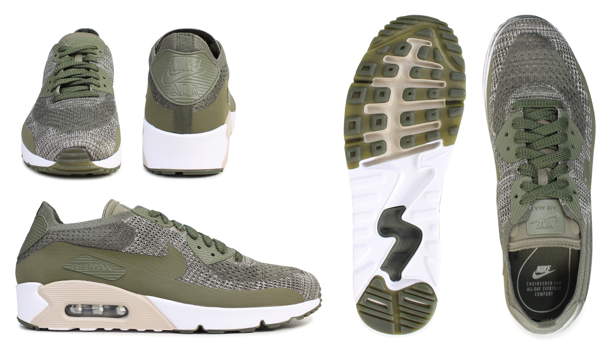 super popular 5d549 dfc66 Nike NIKE Air Max 90 ultra fly knit sneakers AIR MAX 90 ULTRA 2.0 FLYKNIT  875,943-200 men s shoes olive  7 15 Shinnyu load