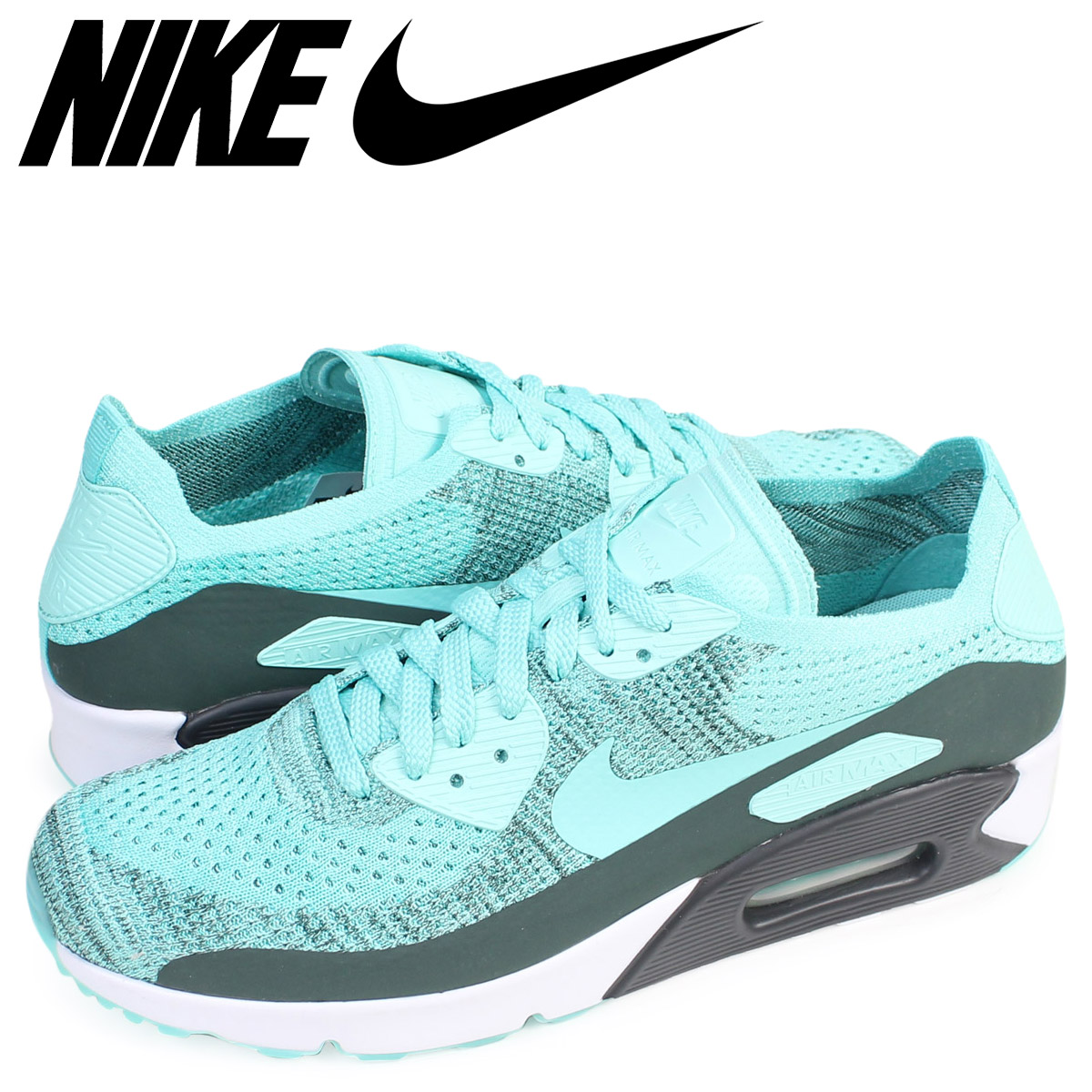 watch 43aac 6a7f6 Nike NIKE Air Max 90 ultra fly knit sneakers AIR MAX 90 ULTRA 2.0 FLYKNIT  875,943-301 men s shoes light blue  7 15 Shinnyu load