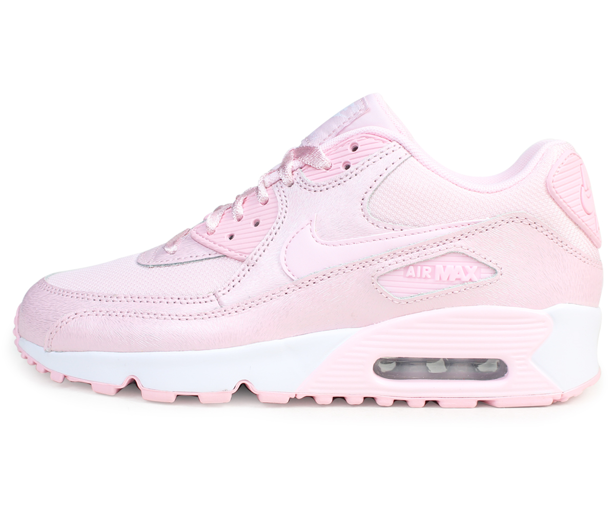 85275e84fe ... Nike NIKE Air Max 90 Lady's sneakers AIR MAX 90 SE MESH GS 880,305-600  ...
