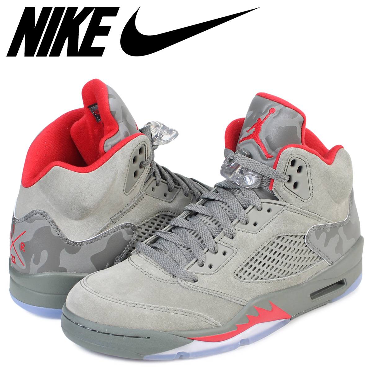 hot sale online 39643 76e12 NIKE Nike Air Jordan 5 nostalgic sneakers AIR JORDAN 5 RETRO 136,027-051  men's shoes olive