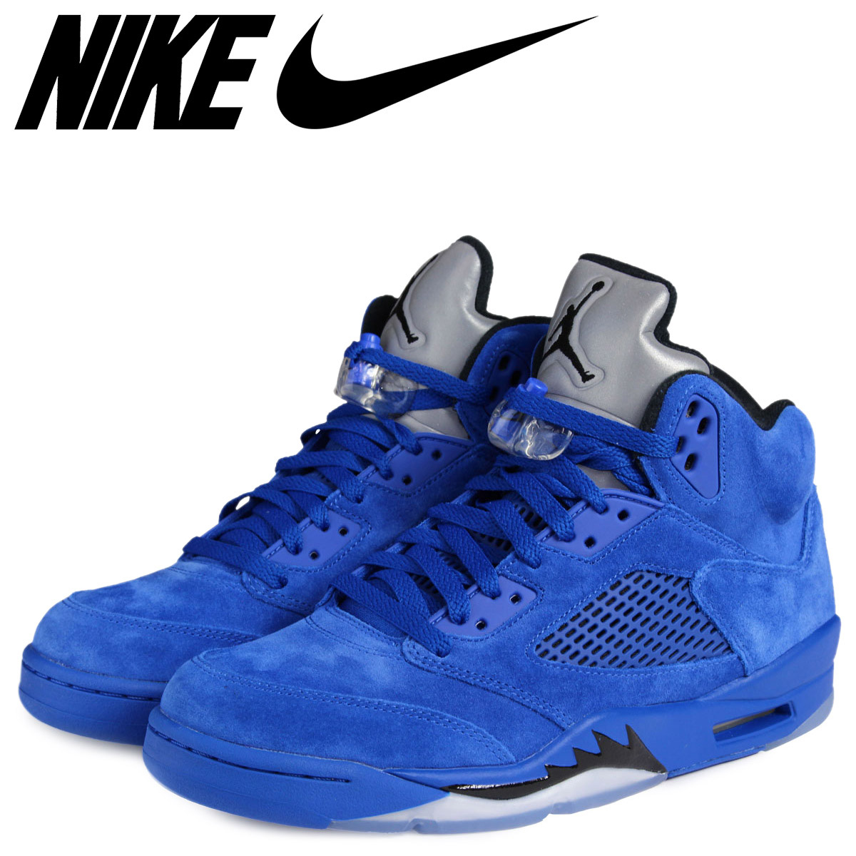 promo code 125d7 cf63f NIKE Nike Air Jordan 5 nostalgic sneakers AIR JORDAN 5 RETRO BLUE SUEDE  136,027-401 men's shoes blue