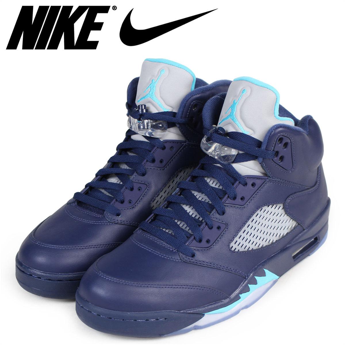 finest selection e8382 0d8c0 NIKE Nike Air Jordan 5 nostalgic sneakers AIR JORDAN 5 RETRO HORNETS  136,027-405 men's shoes blue