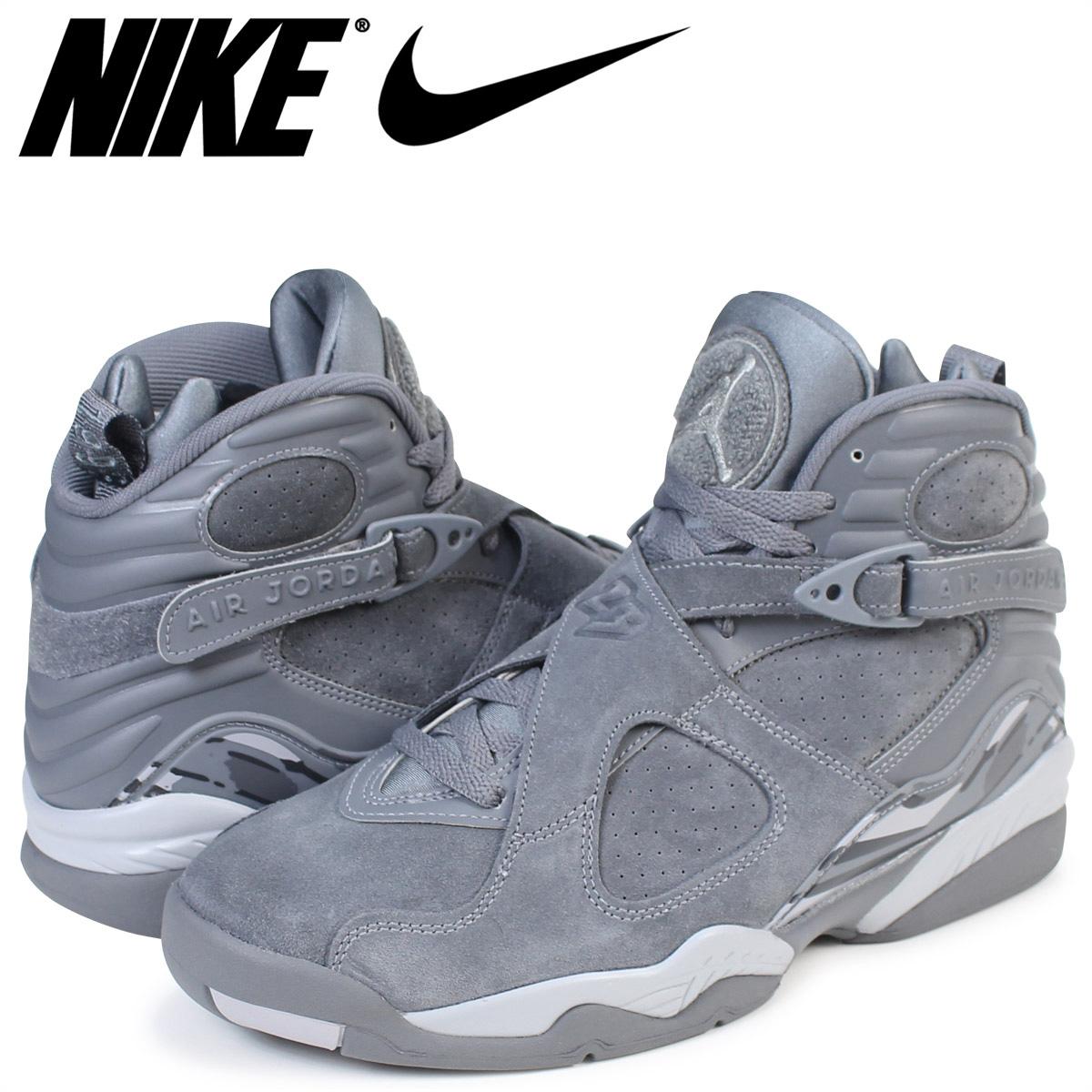 on sale a1b9d deeaf NIKE Nike Air Jordan 8 nostalgic sneakers AIR JORDAN 8 RETRO 305,381-014  men's shoes gray