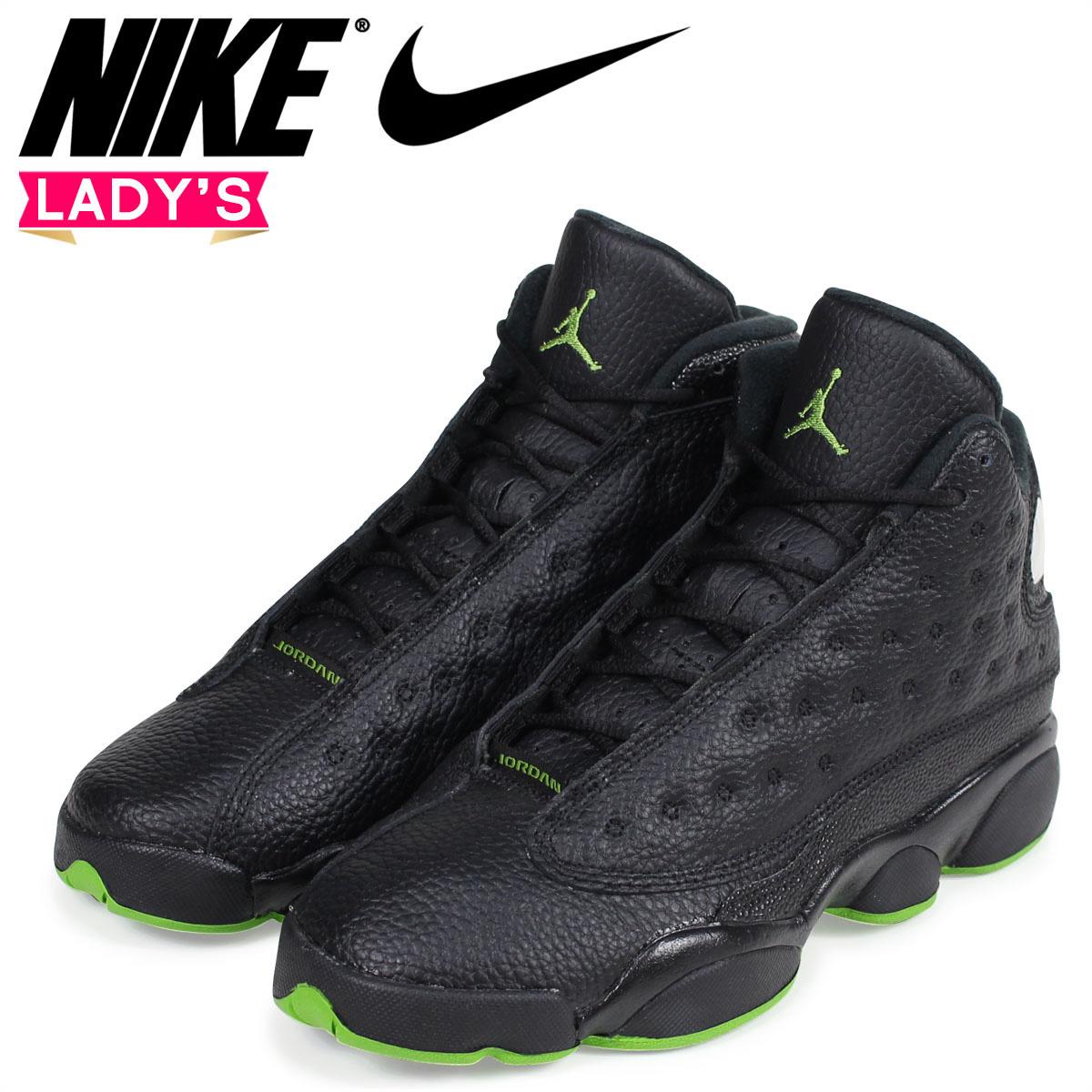 quality design 87e96 e5f3c NIKE Nike Air Jordan 13 nostalgic lady s sneakers AIR JORDAN 13 RETRO BG  414,574-042 black  1 13 Shinnyu load