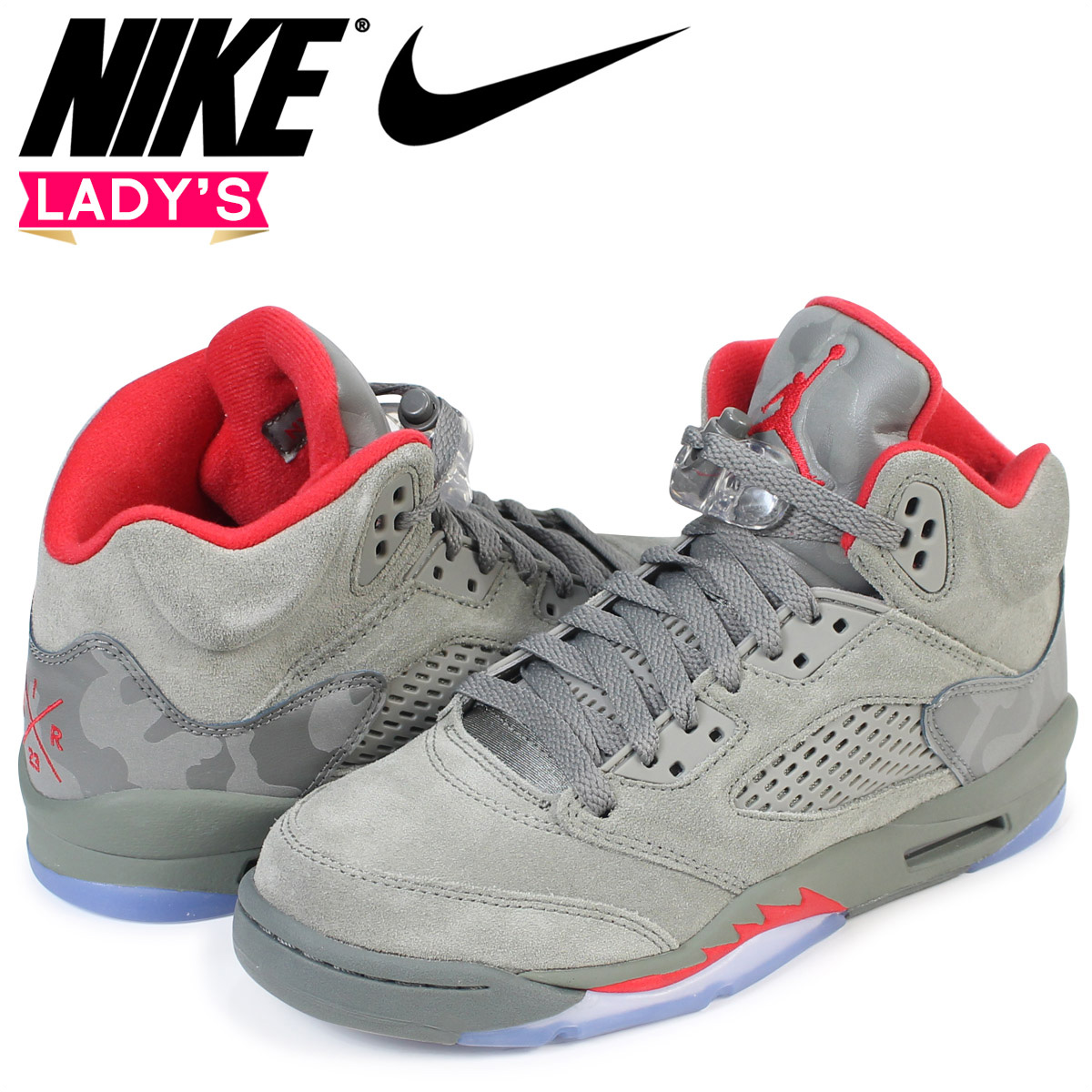 5676351e2faf Nike NIKE Air Jordan 5 nostalgic lady s sneakers AIR JORDAN 5 RETRO BG  440