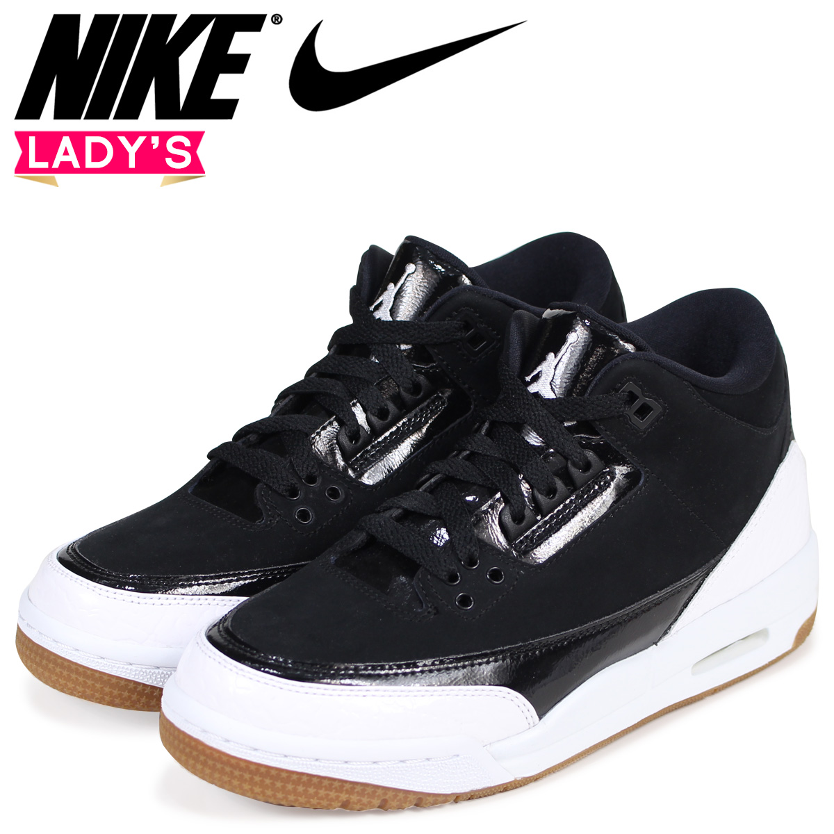 df19d94a862b NIKE Nike Air Jordan 3 nostalgic lady s sneakers AIR JORDAN 3 RETRO GG  441
