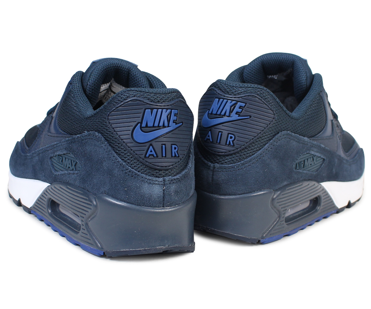 new concept a73d4 dbbdb Nike NIKE Air Max 90 essential sneakers AIR MAX 90 ESSENTIAL 537,384-422 men s  shoes navy  load planned Shinnyu load in reservation product 8 30  containing
