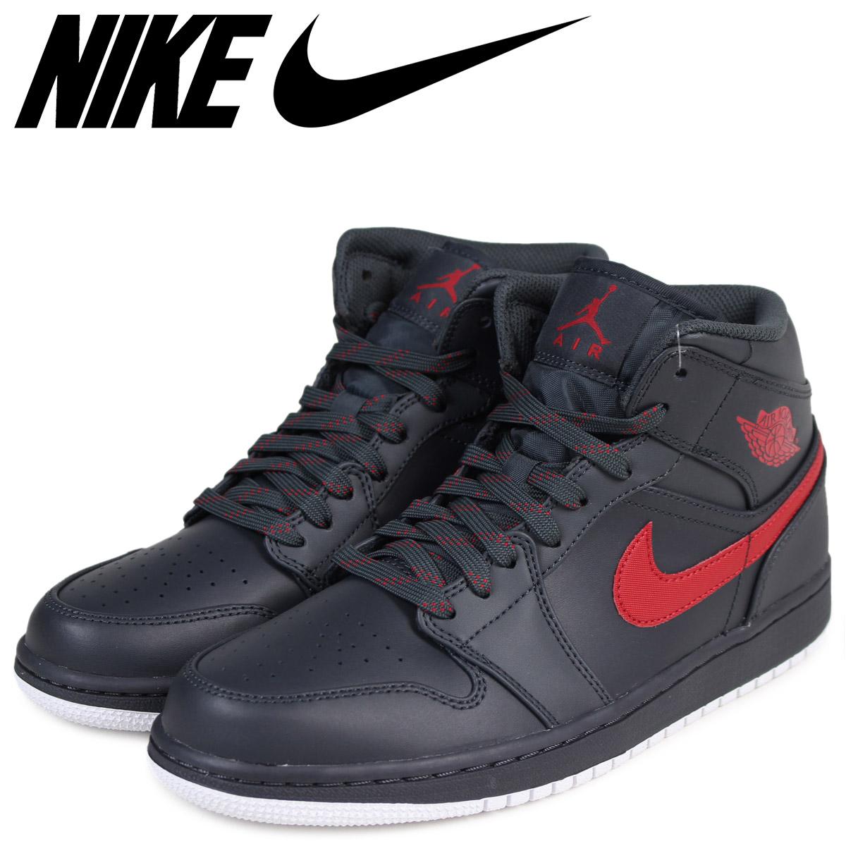 fcecec6db10 Sugar Online Shop: NIKE Nike Air Jordan 1 sneakers AIR JORDAN 1 MID  554,724-045 men's shoes black [load planned Shinnyu load in reservation  product 10/13 ...