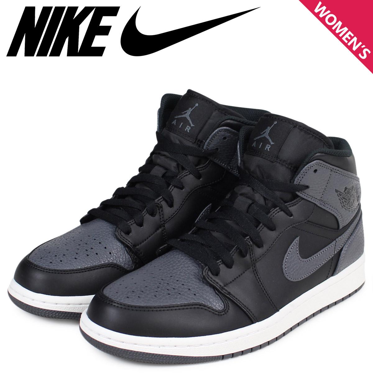7ebed87c02c NIKE Nike Air Jordan 1 Lady's sneakers AIR JORDAN 1 MID BG 554,725-041 shoes  ...