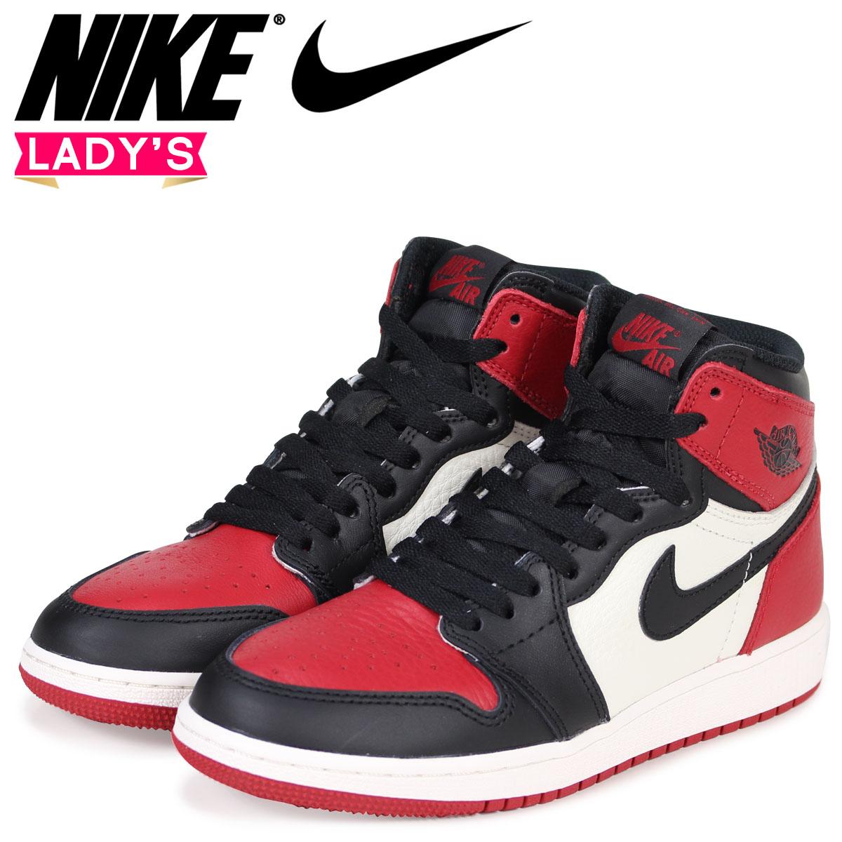 NIKE Nike Air Jordan 1 nostalgic Haile Dis sneakers AIR JORDAN 1 RETRO HIGH  OG BG BRED TOE 575 e0f3fc1bd