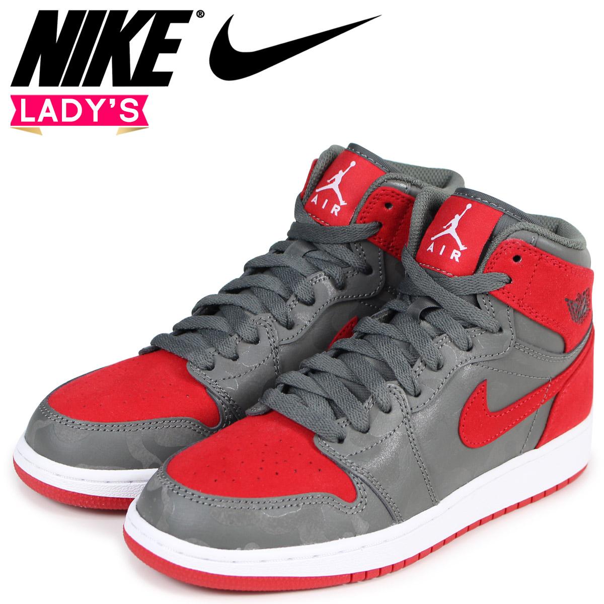 preview of speical offer later NIKE Nike Air Jordan 1 nostalgic lady's sneakers AIR JORDAN 1 RETRO HIGH  PREMIUM BG 822,858-032 gray