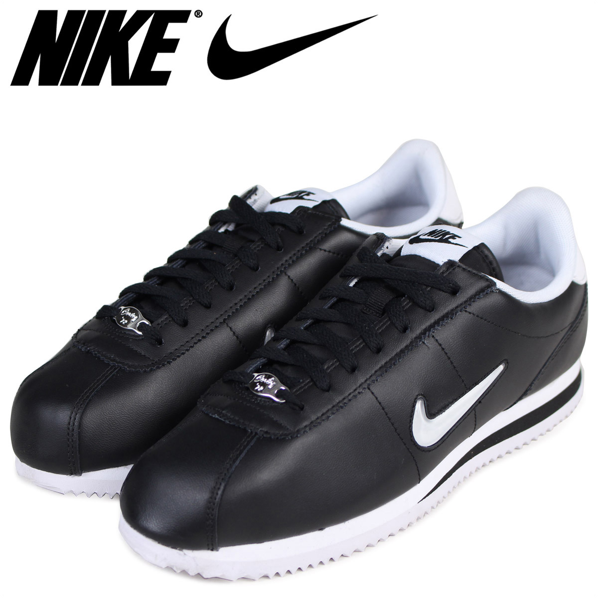 sports shoes 8c65f bdc51 Sugar Online Shop  NIKE ナイキコルテッツスニーカー CORTEZ BASIC JEWEL 833,238-002 men s  shoes black  load planned Shinnyu load in reservation product 10 13 ...