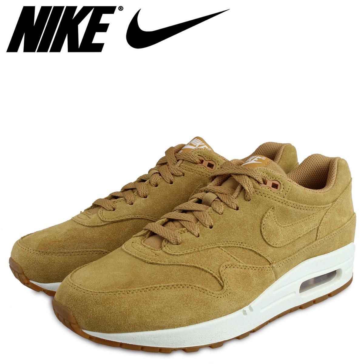 NIKE Kie Ney AMAX 1 premium sneakers AIR MAX 1 PREMIUM WHEAT 875,844 203 men's shoes light brown