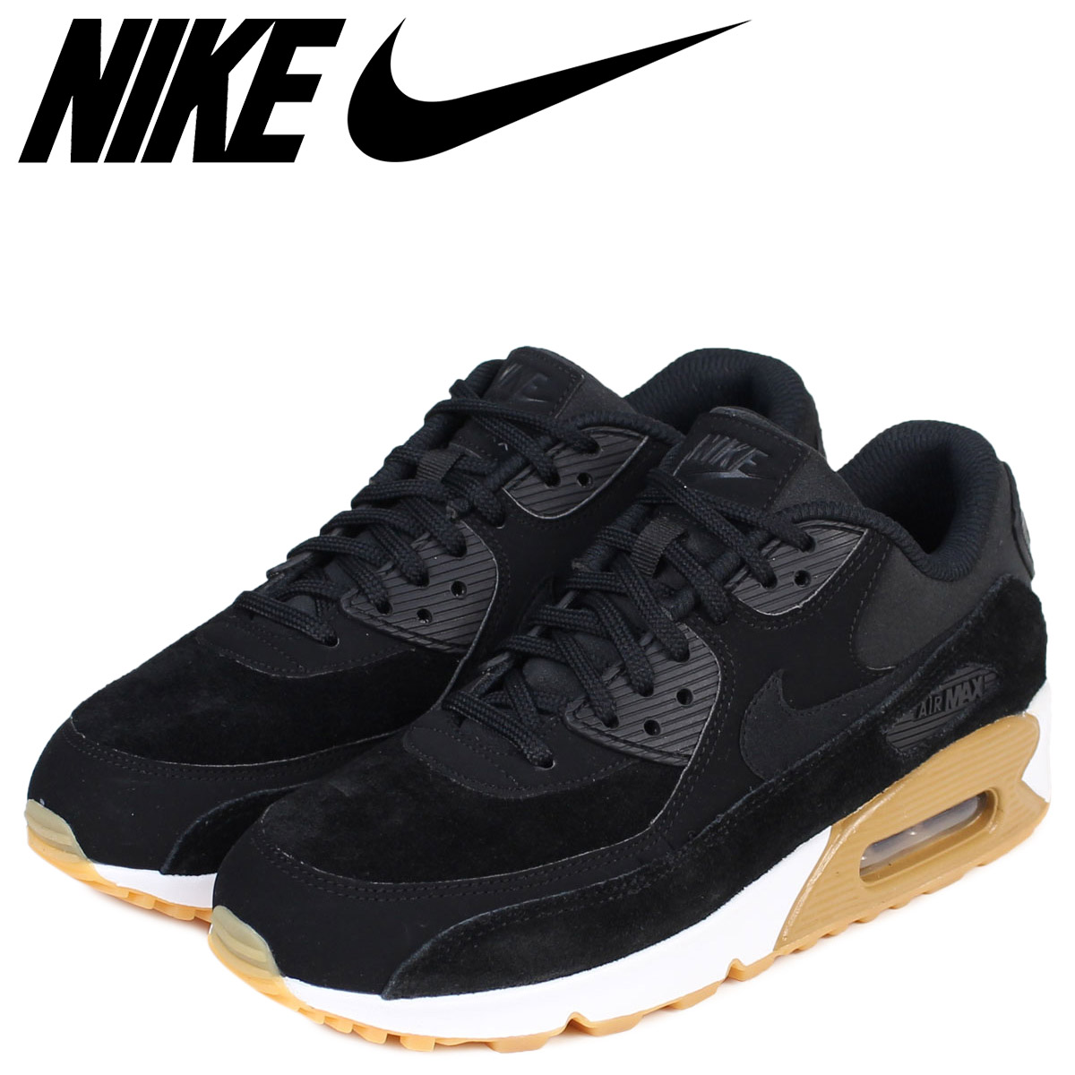 NIKE WMNS AIR MAX 90 SE Kie Ney AMAX 90 Lady's sneakers 881,105 003 shoes black [1023 Shinnyu load] [1710]
