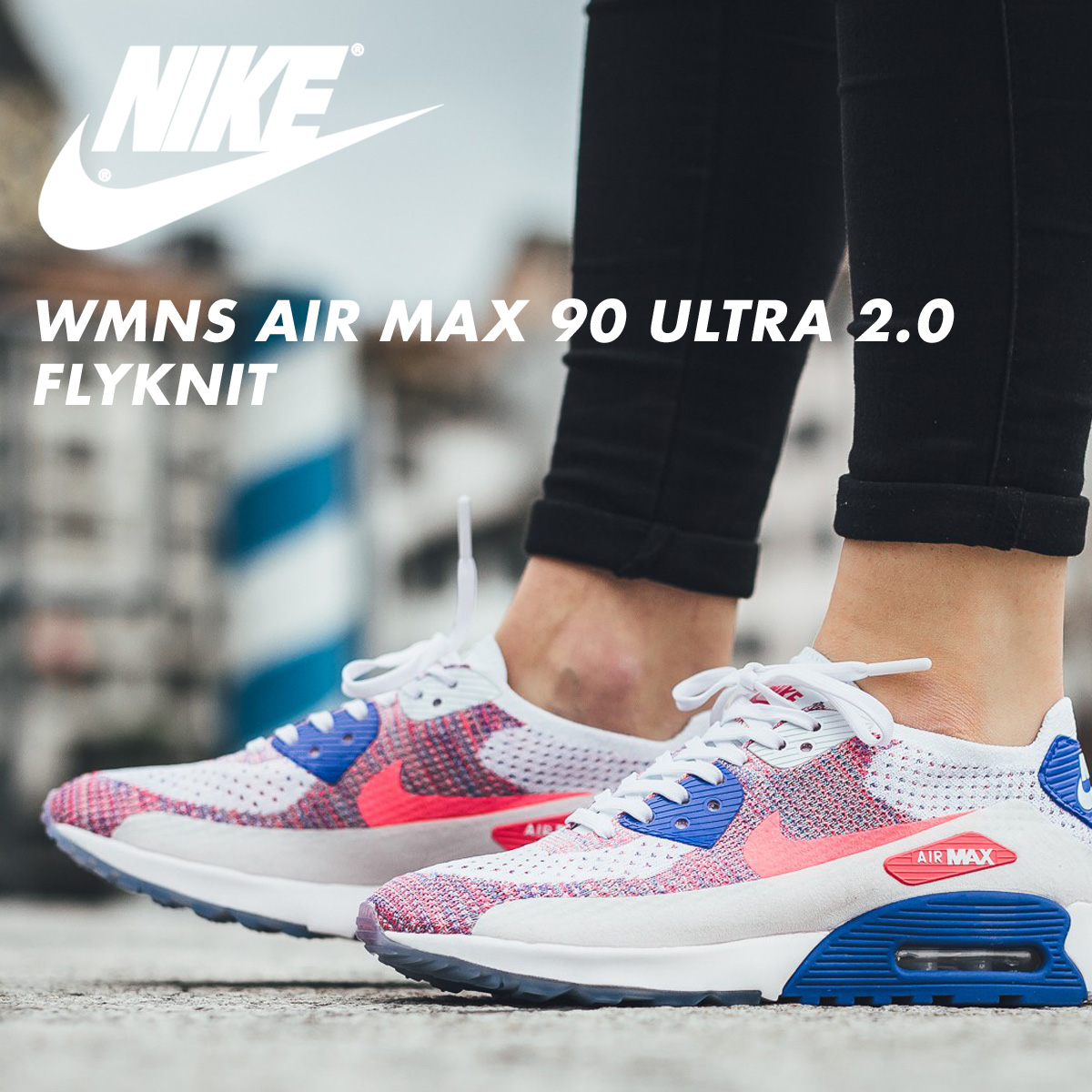 cd4019db ... Nike NIKE Air Max 90 ultra 2.0 fly knit Lady's sneakers WMNS AIR MAX 90  ULTRA ...