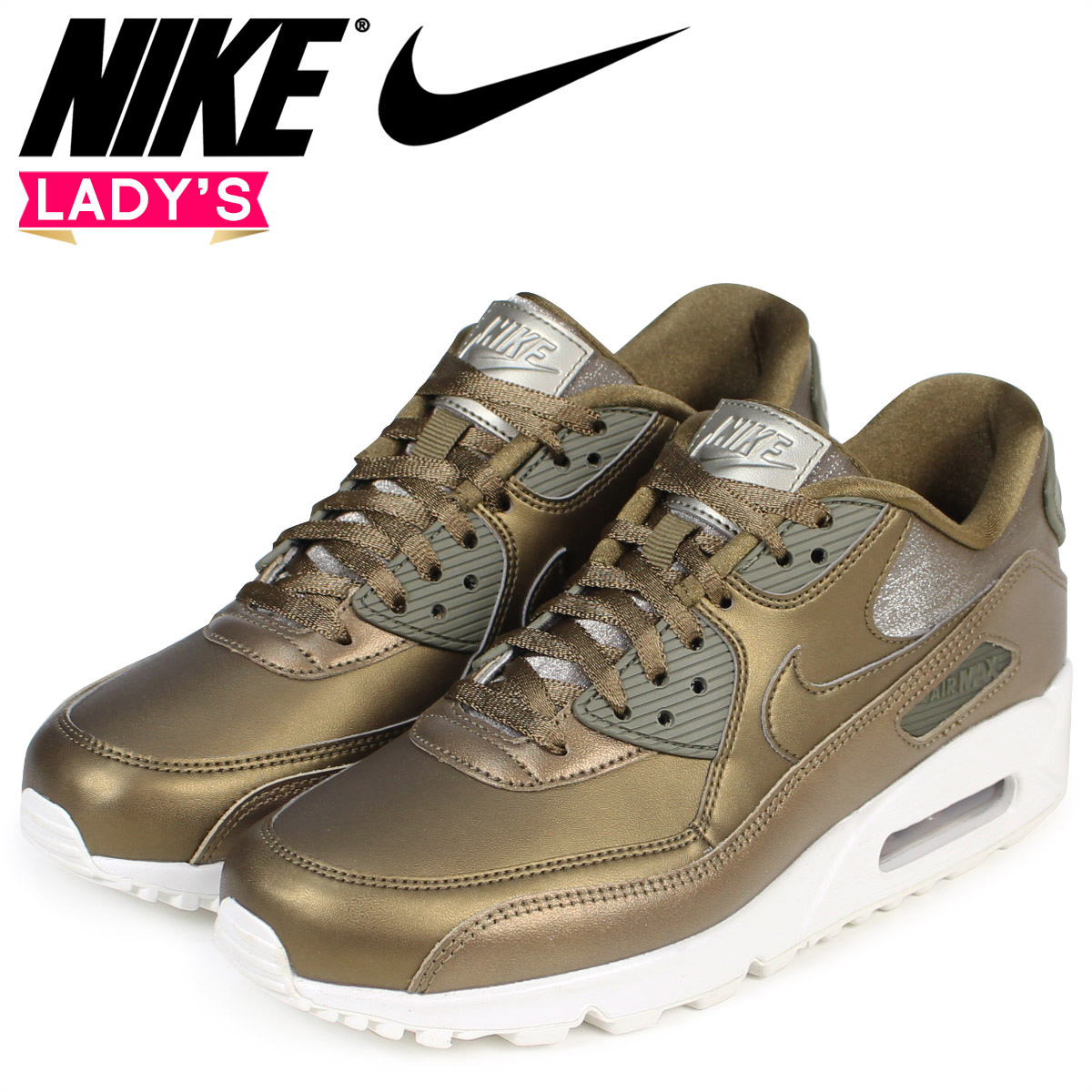 buy popular a93b6 39413 Sugar Online Shop NIKE Kie Ney AMAX 90 Ladys sneakers WMNS AIR MAX 90  PREMIUM 896,497-901 shoes brown 1023 Shinnyu load  Rakuten Global Market
