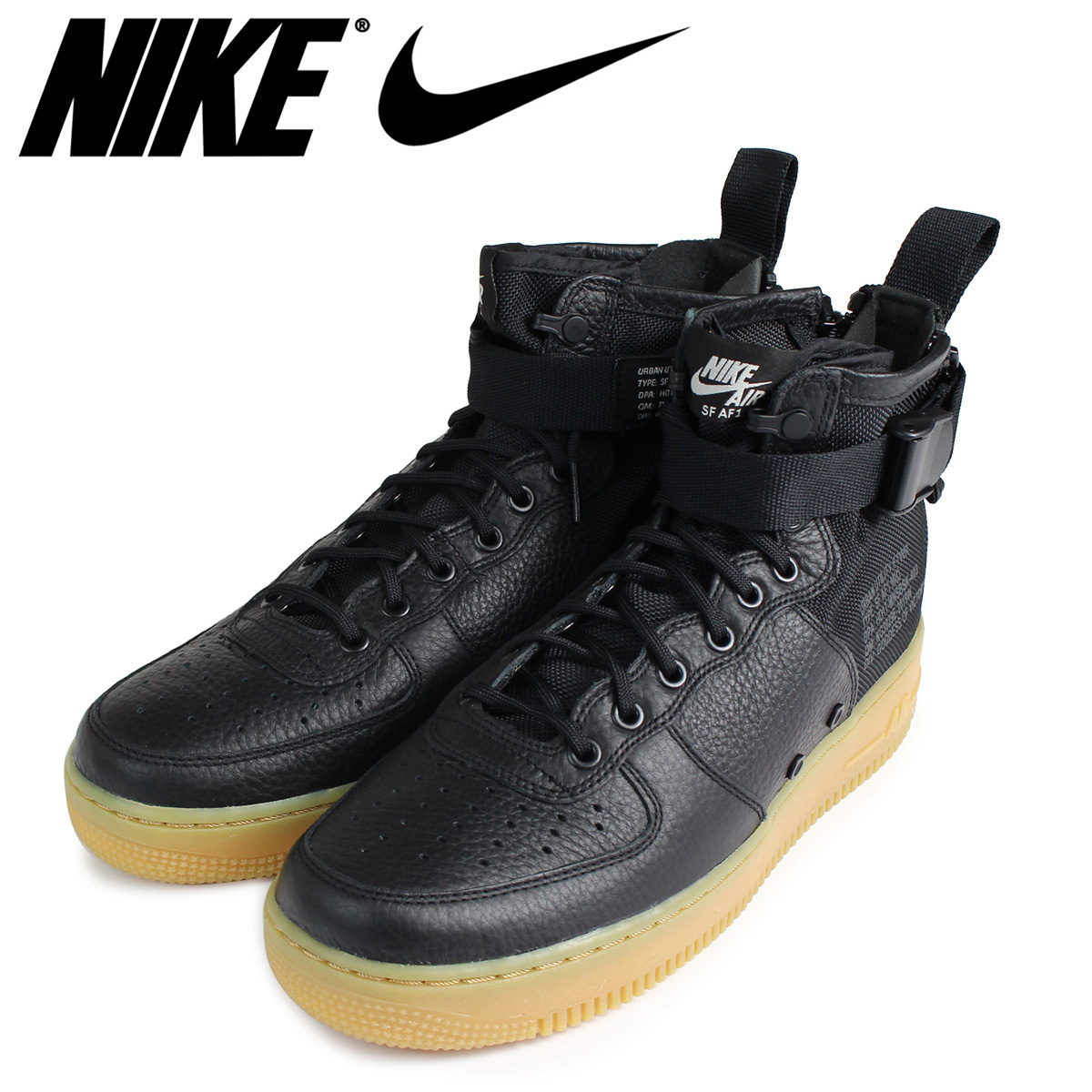new style 18769 647c3 NIKE Nike air force 1 MID sneakers SPECIAL FIELD AIR FORCE 1 917,753-003 SF  AF1 men shoes black  load planned Shinnyu load in reservation product 11 17  ...