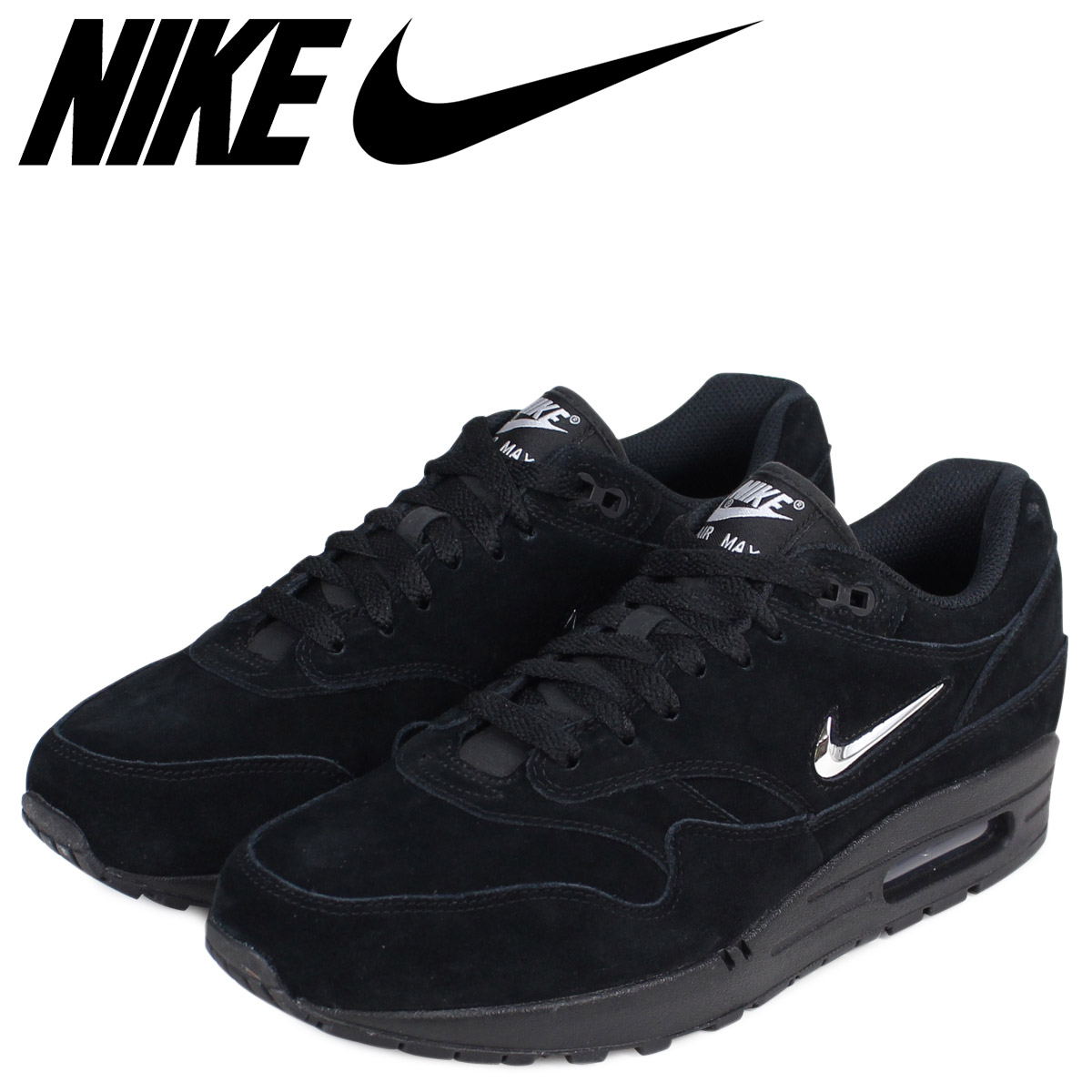 NIKE Kie Ney AMAX 1 premium sneakers AIR MAX 1 PREMIUM SC 918,354 005 men's shoes black black
