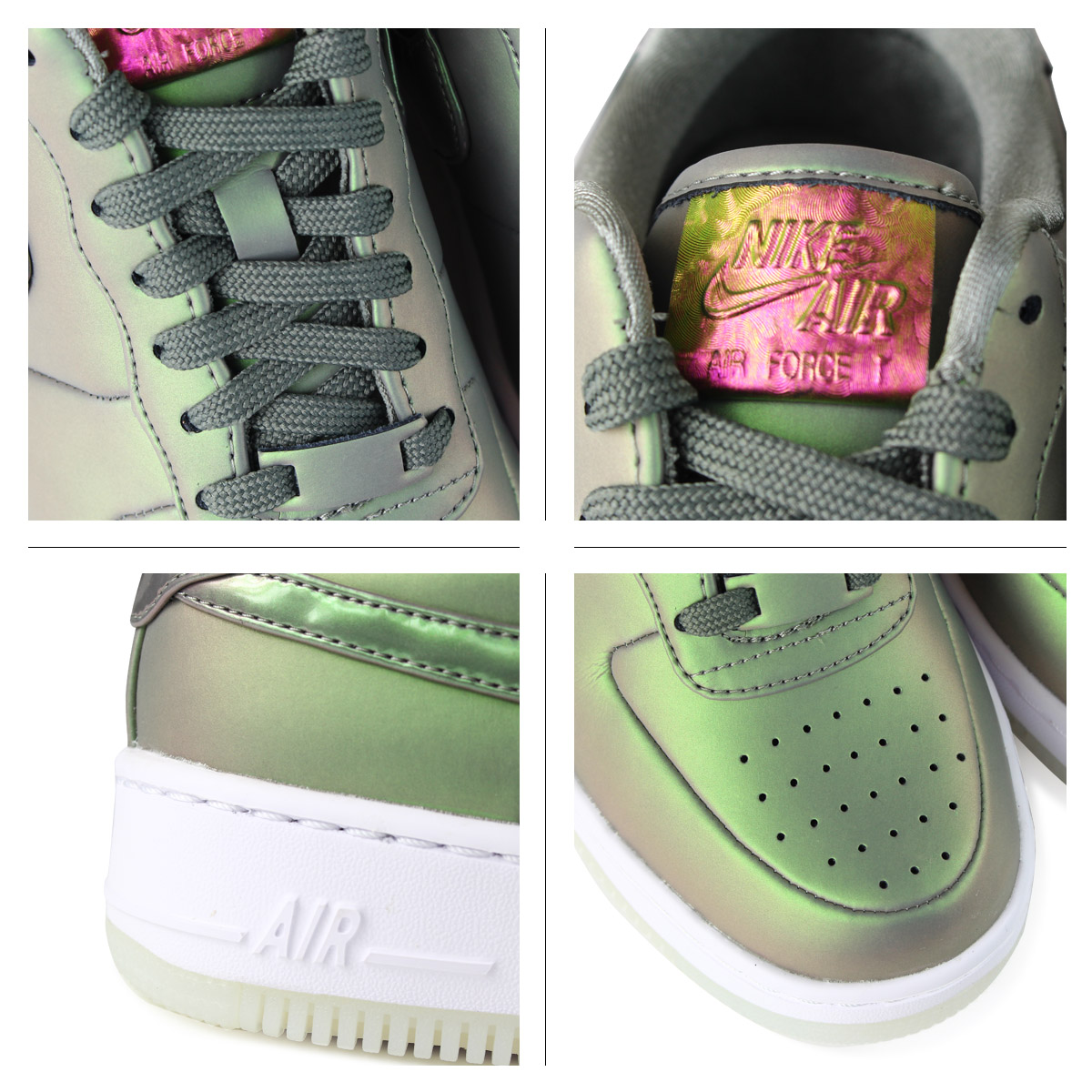 NIKE Nike air force 1 lady's sneakers WMNS AIR FORCE 1 UPSTEP PREMIUM LX AA3964 001 shoes green