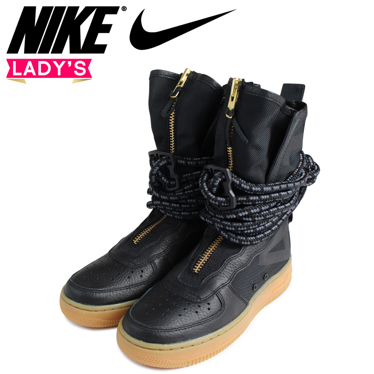 official photos ce92c 21b17 NIKE Nike air force 1 HI Lady's sneakers SPECIAL FIELD ARE FORCE 1  AA3965-001 SF AF1 shoes black black