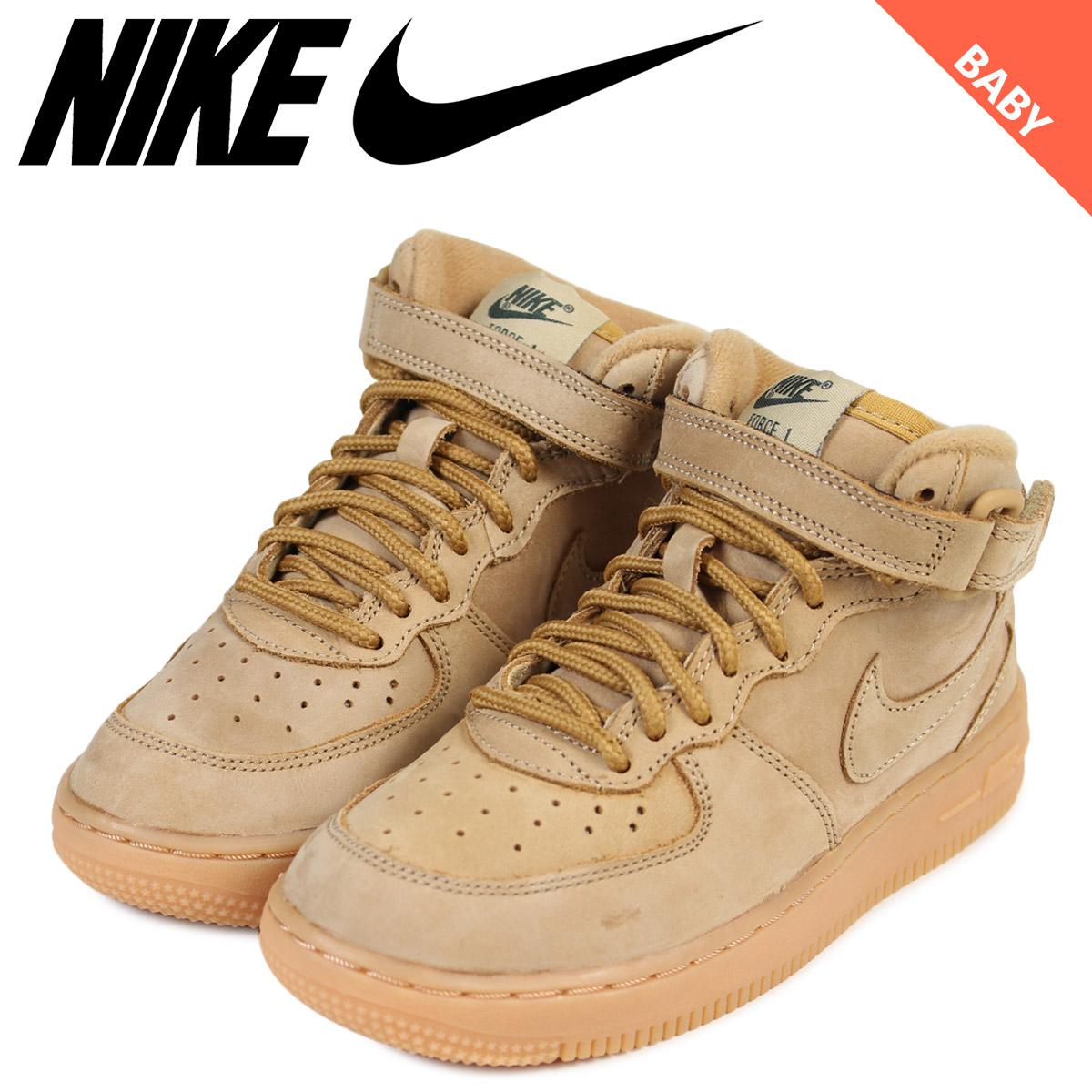 NIKE Nike air force 1 mid baby sneakers AIR FORCE 1 WB TD AH0757 203 shoes brown