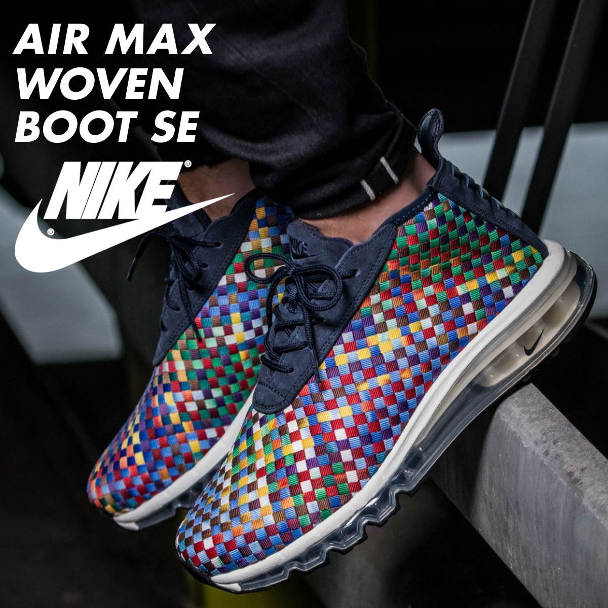 the latest 4d0aa c3b87 Nike NIKE Air Max sneakers AIR MAX WOVEN BOOT SE AH8139-400 men shoes  multi- load planned Shinnyu load in reservation product 9 29 containing