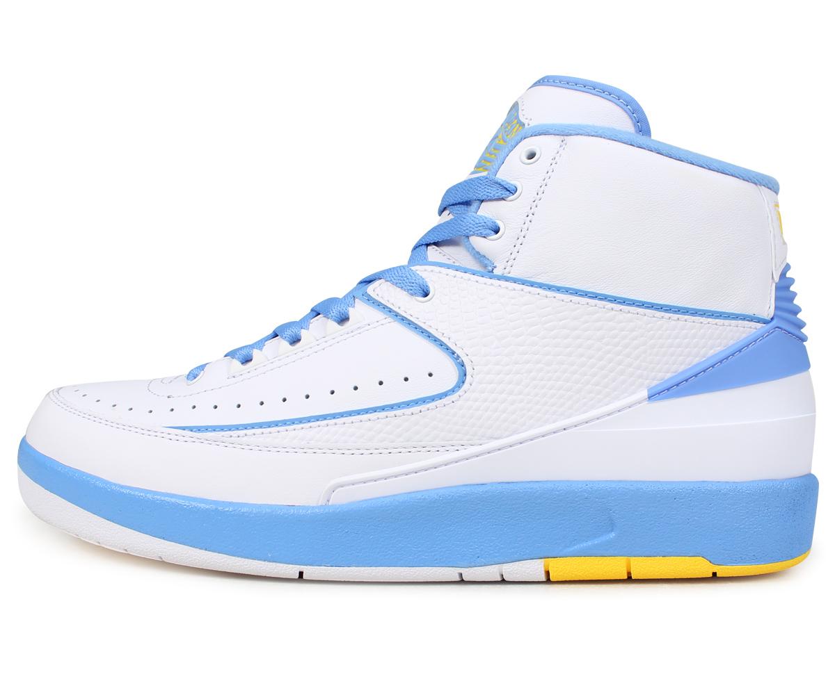 299ea2a505d0ec ... University Blue Black White NIKE Nike Air Jordan 2 nostalgic sneakers  men AIR JORDAN 2 RETRO MELO 385