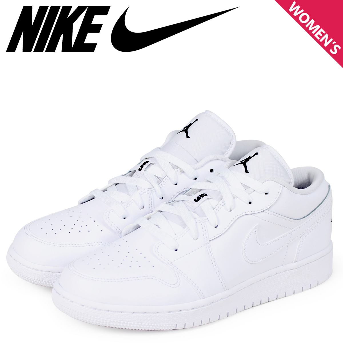 huge selection of af944 d6fd9 NIKE Nike Air Jordan 1 LOW Lady s sneakers AIR JORDAN 1 BG 553,560-101  shoes white  1 9 Shinnyu load