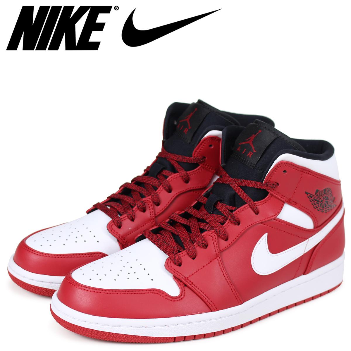 size 40 60ed1 4f498 NIKE Nike Air Jordan 1 sneakers men AIR JORDAN 1 MID 554,724-605 red red