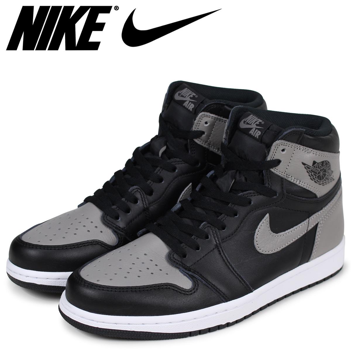 NIKE Nike Air Jordan 1 nostalgic high sneakers men AIR JORDAN 1 RETRO HIGH  OG SHADOW 555,088-013 gray