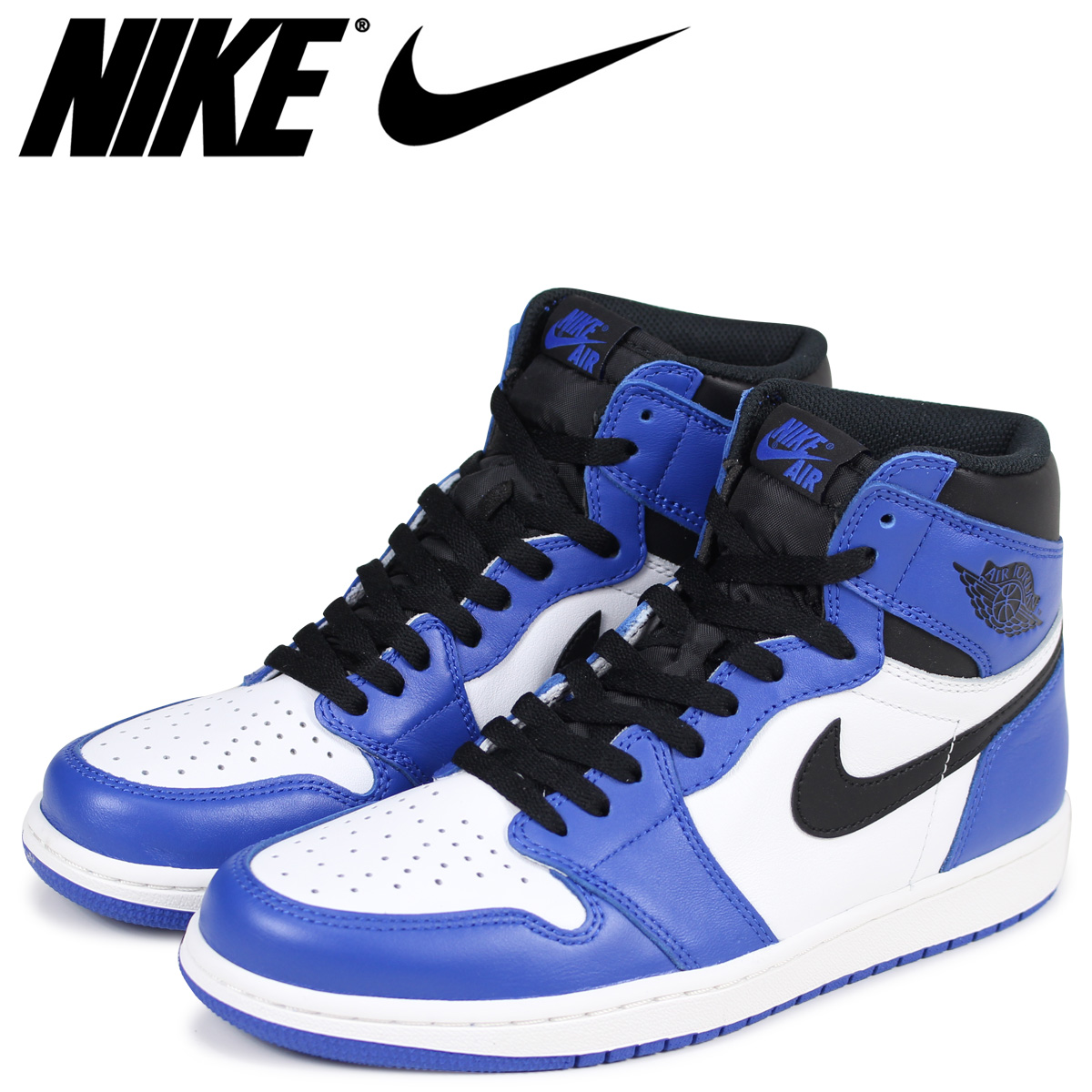 0fef413f10c6ec NIKE Nike Air Jordan 1 nostalgic high sneakers men AIR JORDAN 1 RETRO HIGH  OG GAME ROYAL 555