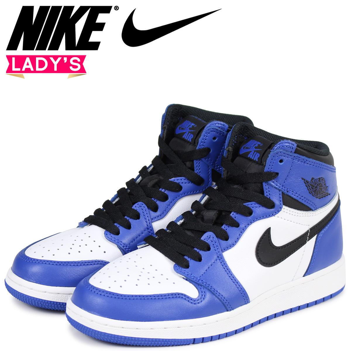 48992e3c31e NIKE Nike Air Jordan 1 nostalgic Haile Dis sneakers AIR JORDAN 1 RETRO HIGH  OG BG GAME ROYAL 575