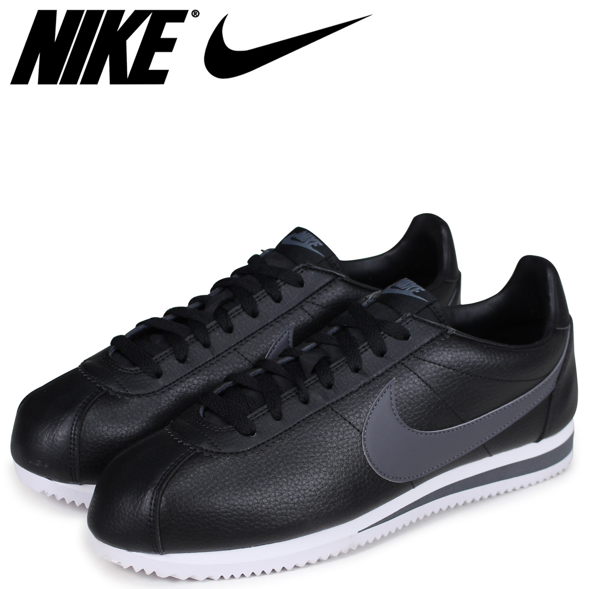 newest 90474 c8a6c  up to 2,016 yen OFF  ナイキコルテッツ NIKE sneakers men CLASSIC CORTEZ LEATHER  749,571-011 shoes black  load planned Shinnyu load in reservation product  ...