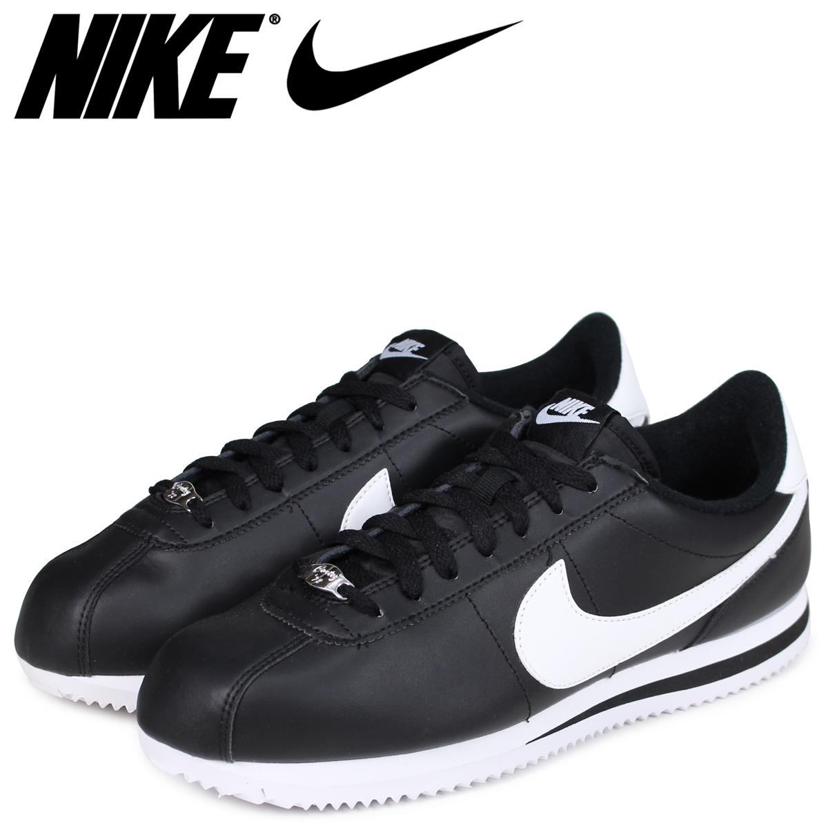 NIKE ナイキ コルテッツ スニーカー CORTEZ BASIC LEATHER 819719-012 メンズ 靴 ブラック [7/19 追加入荷] 【決算セール 返品不可】