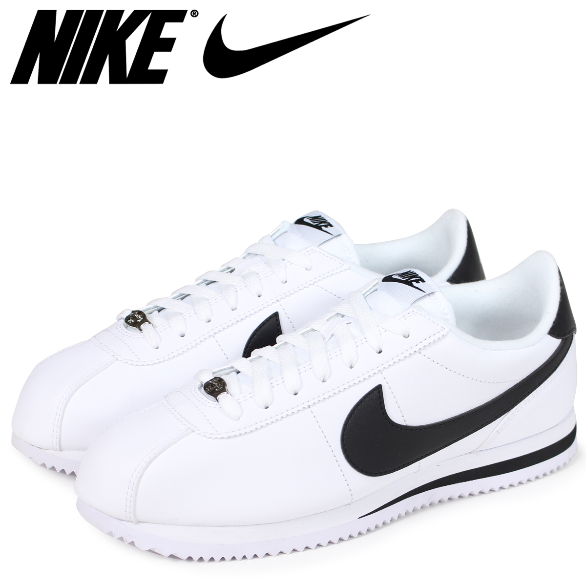 quality design 7794b 3d8b0 NIKE Nike Cortez sneakers CORTEZ BASIC LEATHER 819719-100 men s shoes white  ...