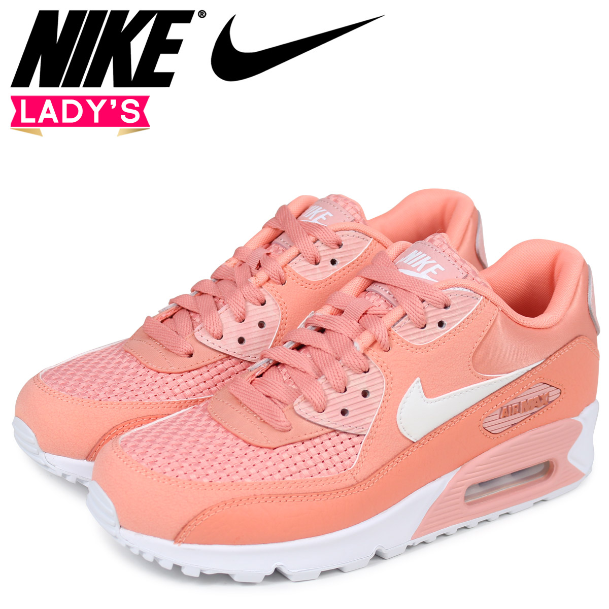 NIKE Kie Ney AMAX 90 Lady's sneakers WMNS AIR MAX 90 SE 881,105 604 pink