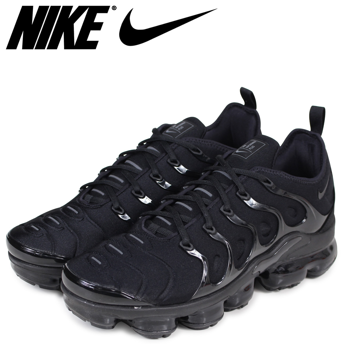 buy popular 5d5f0 651cb NIKE Nike air vapor max plus sneakers men AIR VAPORMAX PLUS 924,453-004  black ...