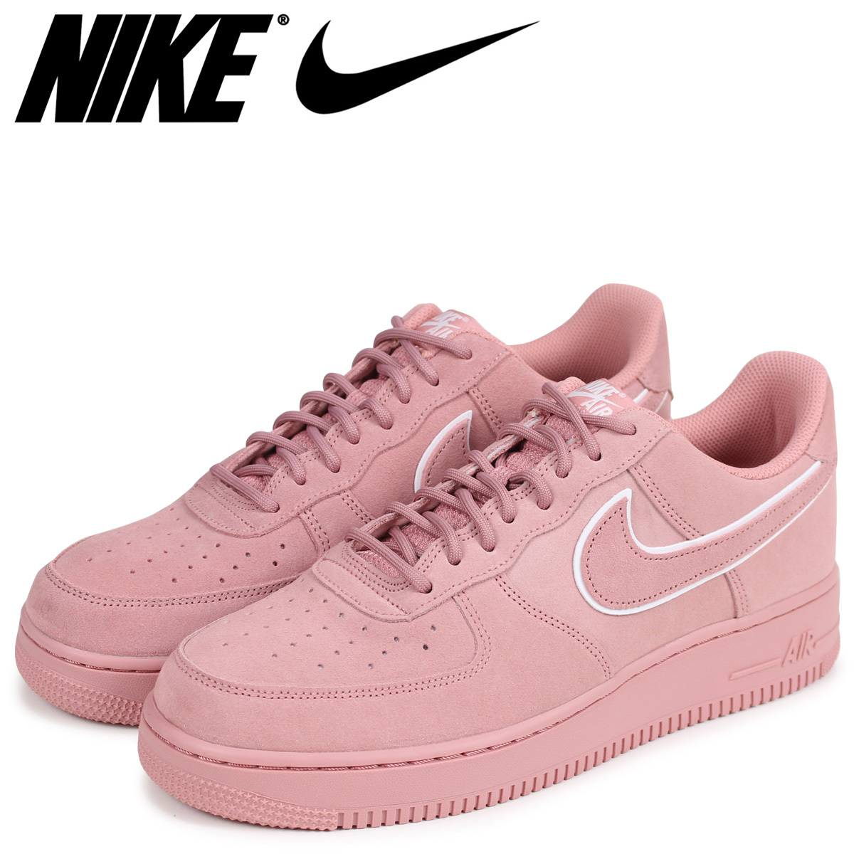 808bf961d2bc NIKE Nike air force 1 07 LV8 sneakers men AIR FORCE 1 SUEDE AA1117-601 pink   load planned Shinnyu load in reservation product 3 30 containing