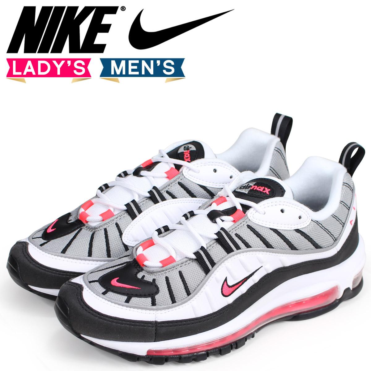 NIKE Kie Ney AMAX 98 lady's men's sneakers WMNS AIR MAX 98 AH6799 104 white white