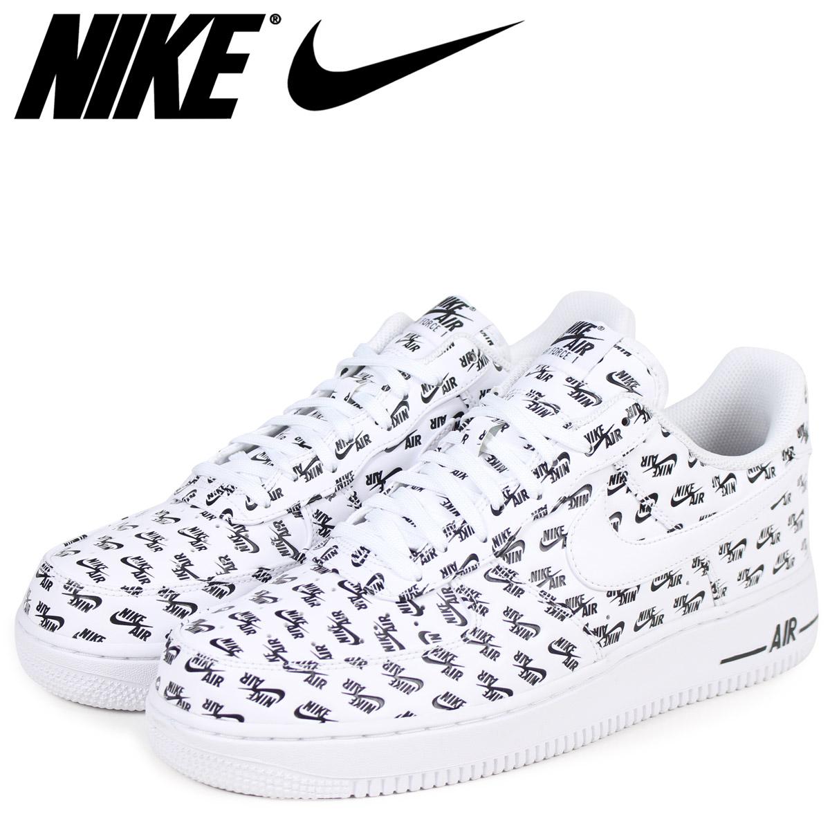 NIKE Nike air force 1 07 sneakers men AIR FORCE 1 QS ALL OVER LOGO AH8462 100 white white