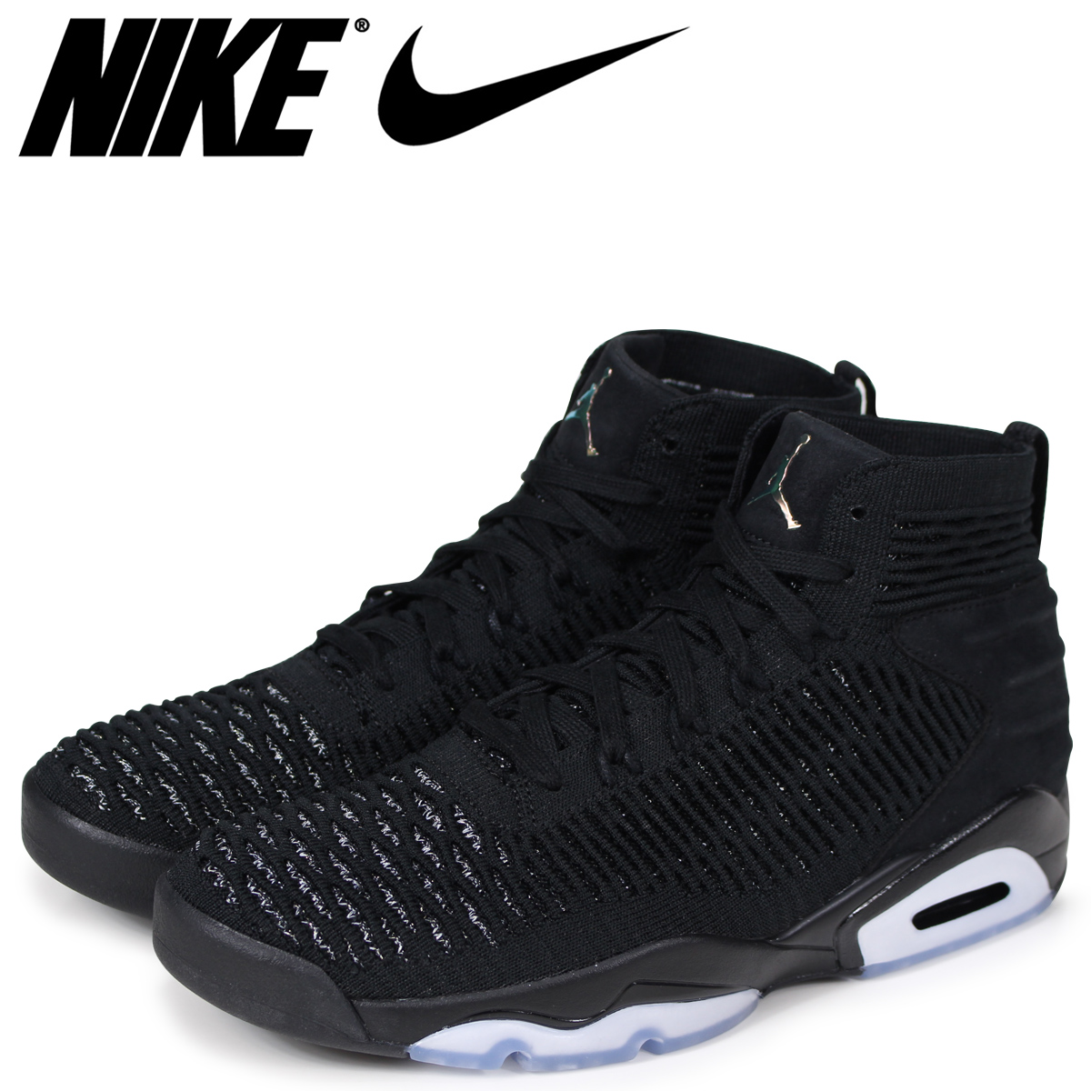 942b55191e3 NIKE Nike Jordan sneakers men JORDAN FLYKNIT ELEVATION 23 AJ8207-010 black  black ...