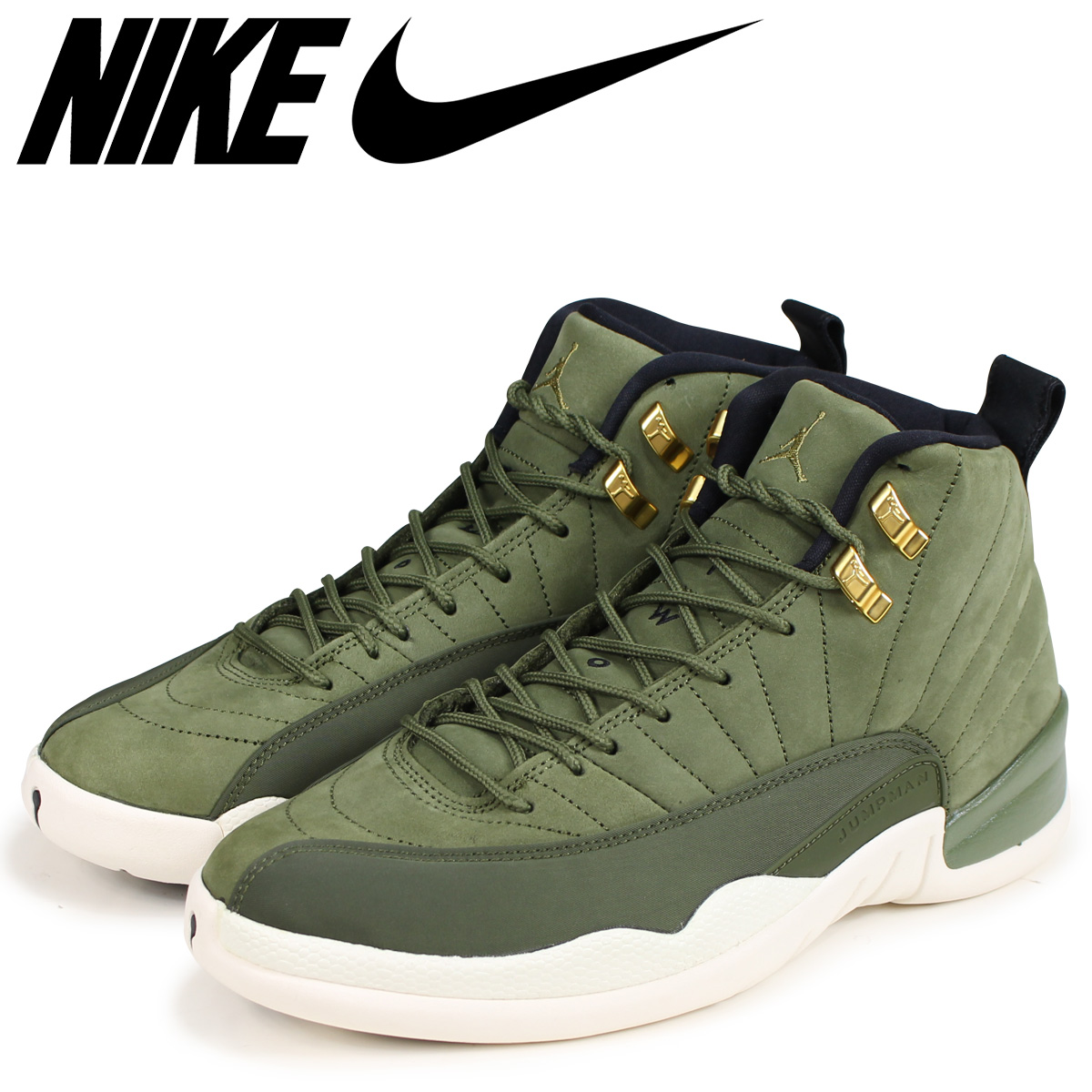 lowest price 2df2b 56fd0 NIKE Nike Air Jordan 12 nostalgic sneakers men AIR JORDAN 12 RETRO  130,690-301 olive