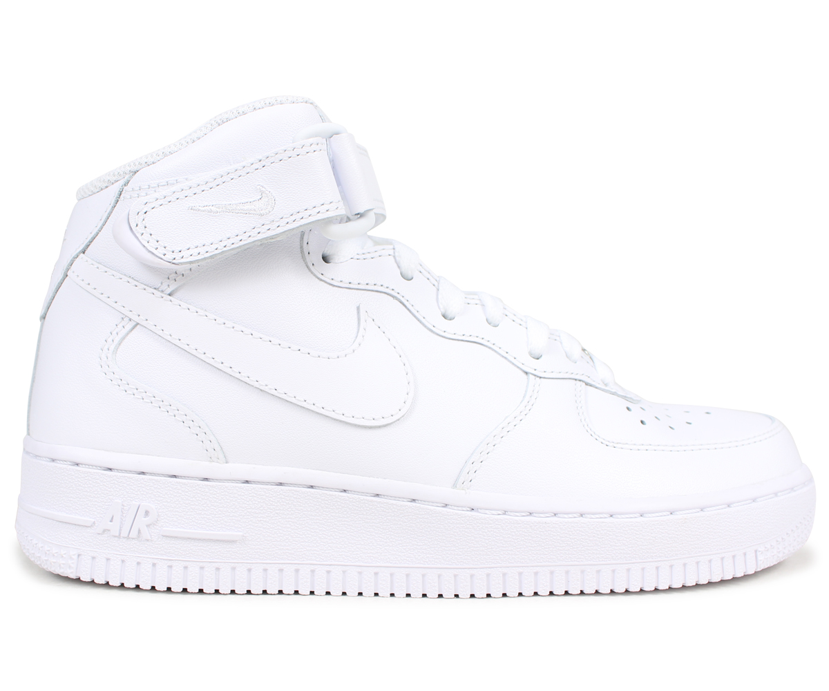 NIKE Nike air force 1 lady's sneakers WMNS AIR FORCE 1 MID 07 366,731 100 white white