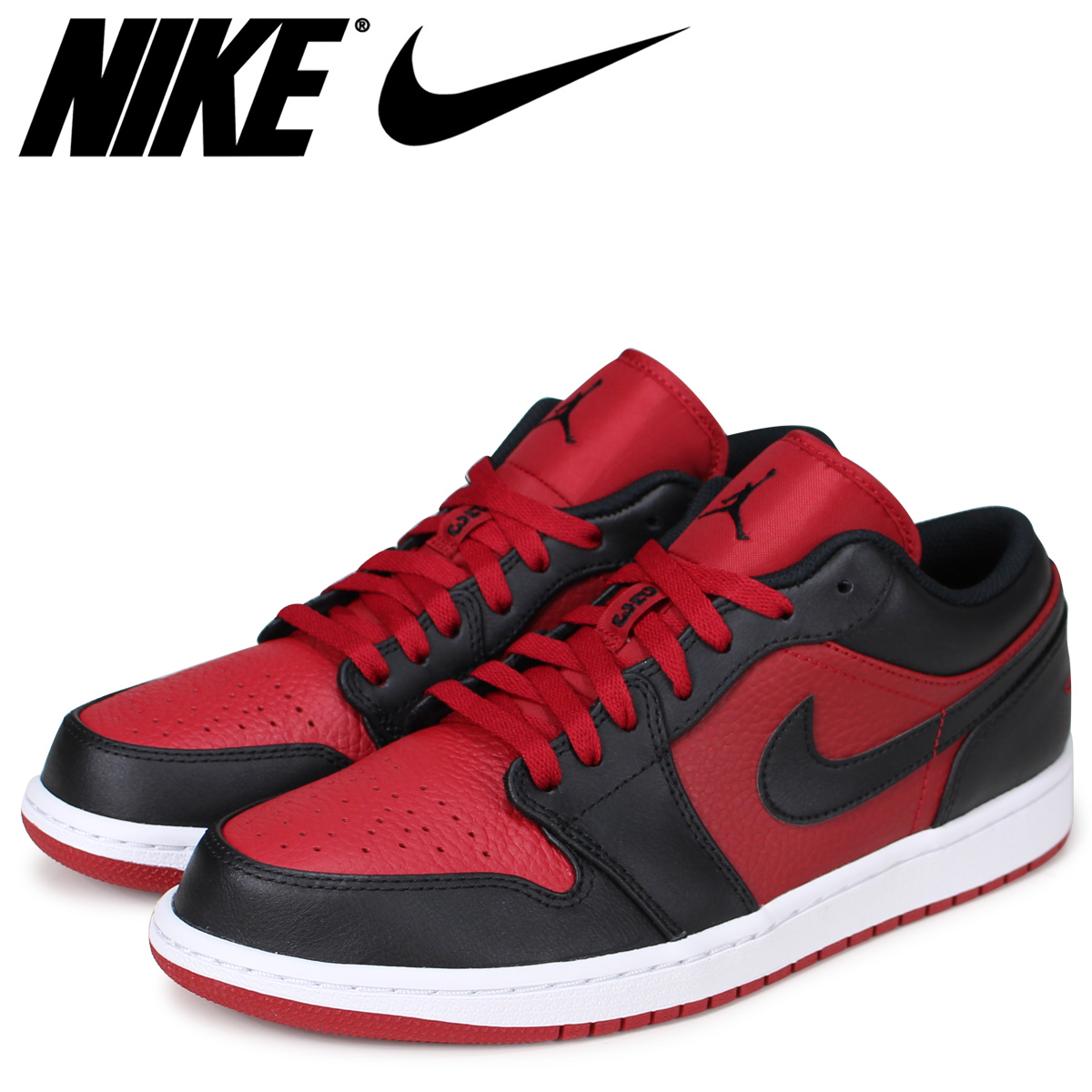 sports shoes a5a5e 2c047 NIKE Nike Air Jordan 1 sneakers men AIR JORDAN 1 LOW 553,558-610 red ...