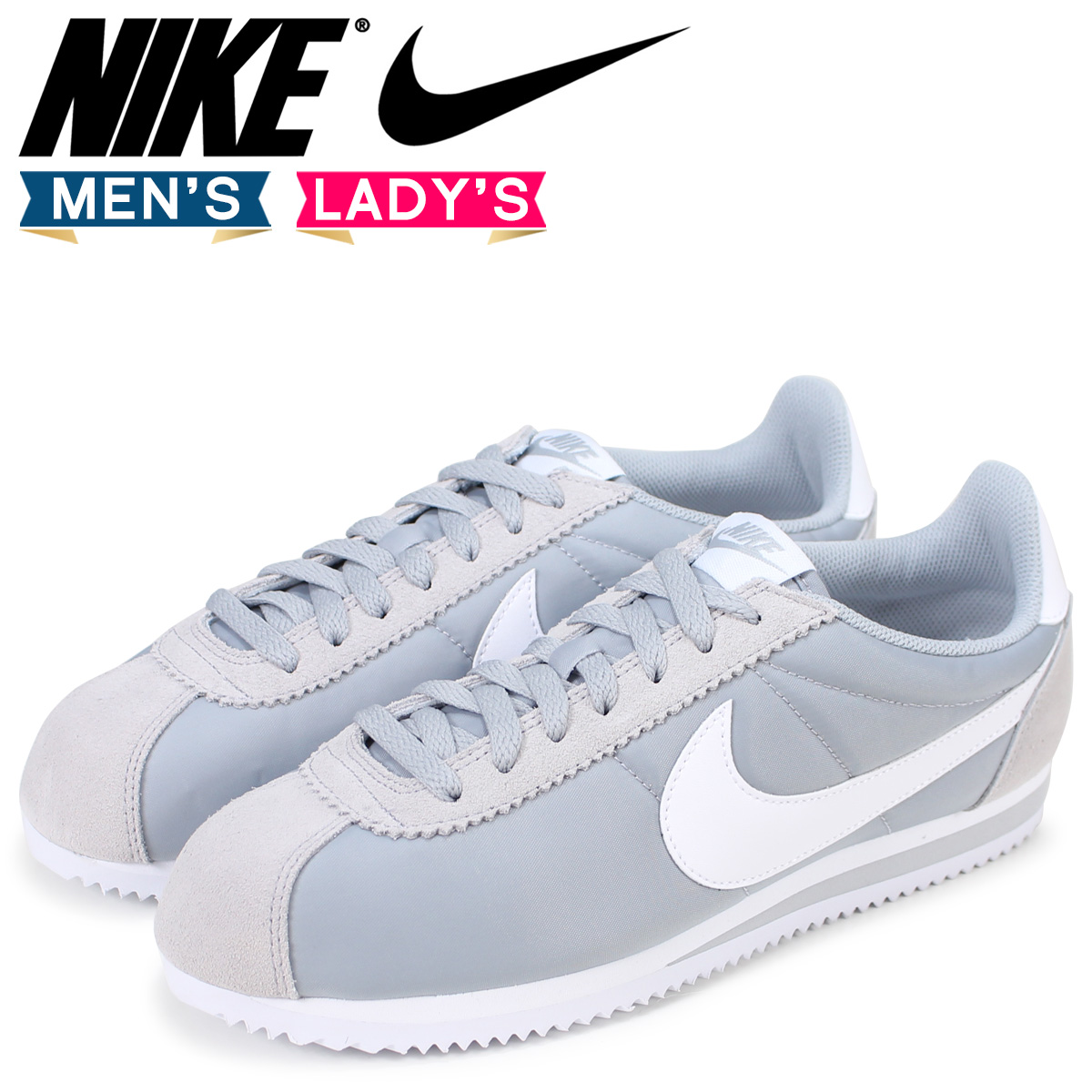 super popular 37134 ff7f7 Nike NIKE classic Cortez sneaker CLASSIC CORTEZ NYLON 807472-010 Wolf grey  mens womens shoes grey