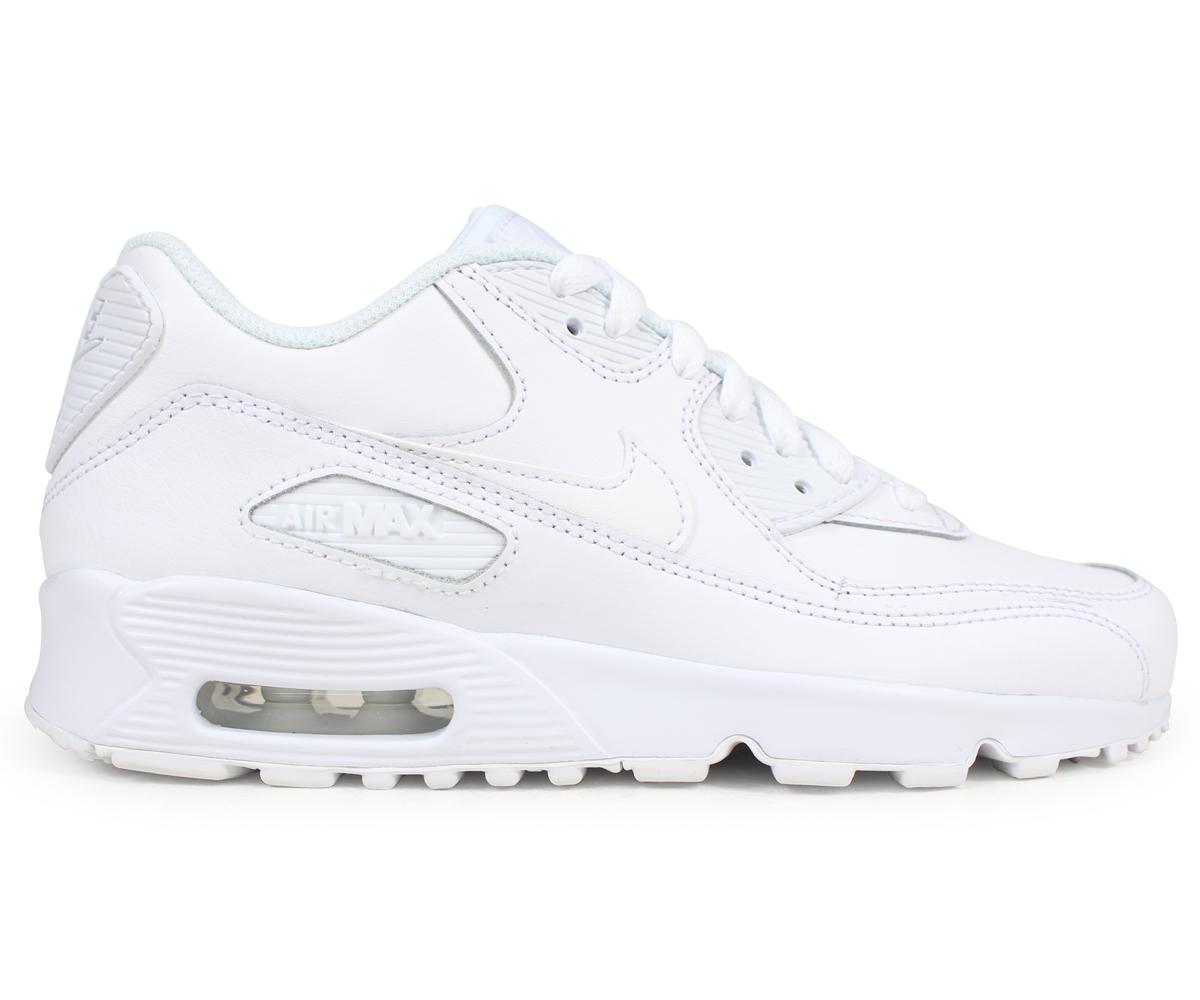 Damen Schuhe sneakers Nike Air Max 90 (GS) 833412 100 | WEIβ
