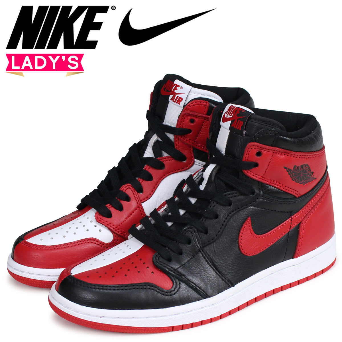 50% off recognized brands crazy price NIKE Nike Air Jordan 1 nostalgic Haile Dis sneakers AIR JORDAN 1 RETRO HIGH  OG HOMAGE TO HOME 861,428-061 red red