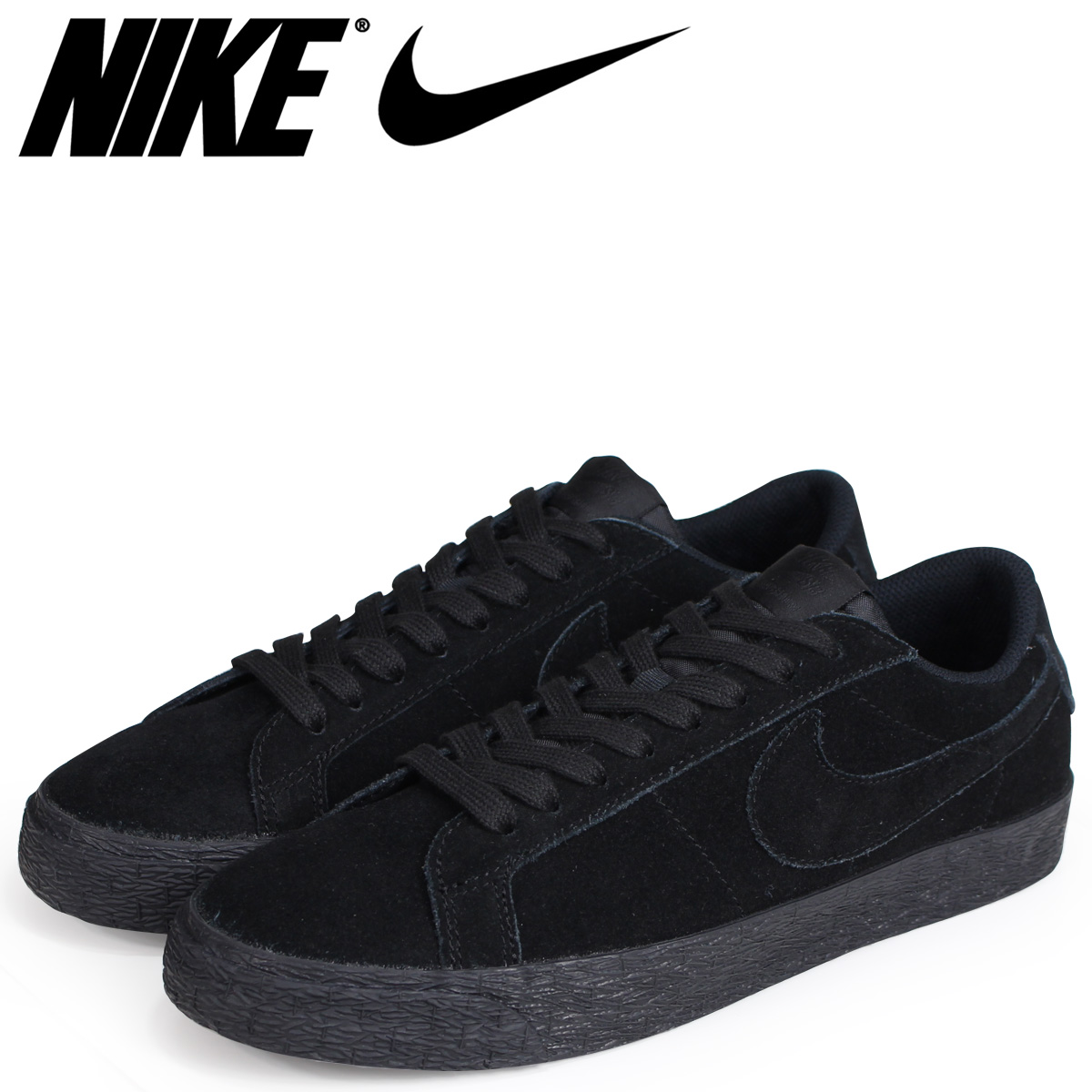 new arrival efd24 71326 NIKE Nike SB blazer low sneakers men ZOOM BLAZER LOW 864,347-004 black black